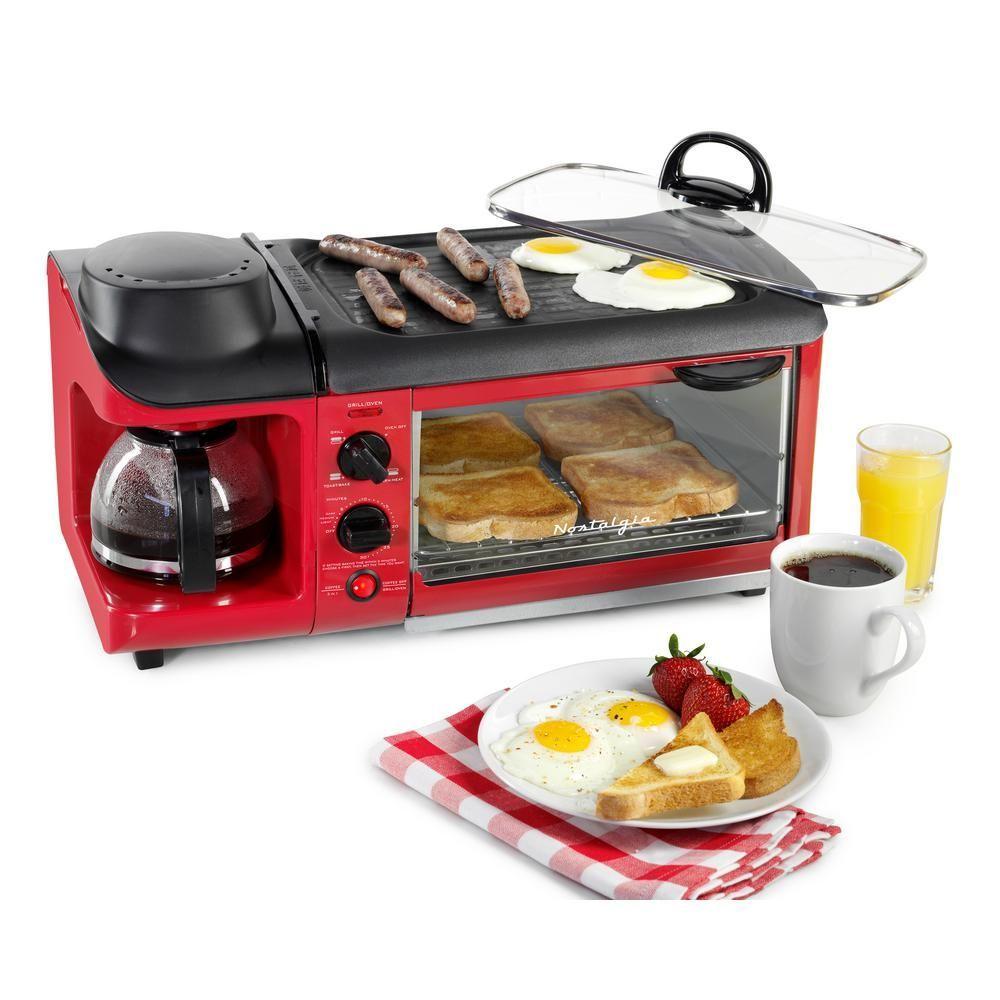 Nostalgia Retro Series Slice in Breakfast Station Toaster Oven