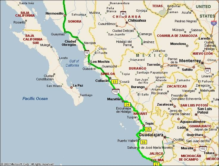 Mexican Riviera Map Mexican Riviera Map   Northern Mexico to the Mexican Riviera