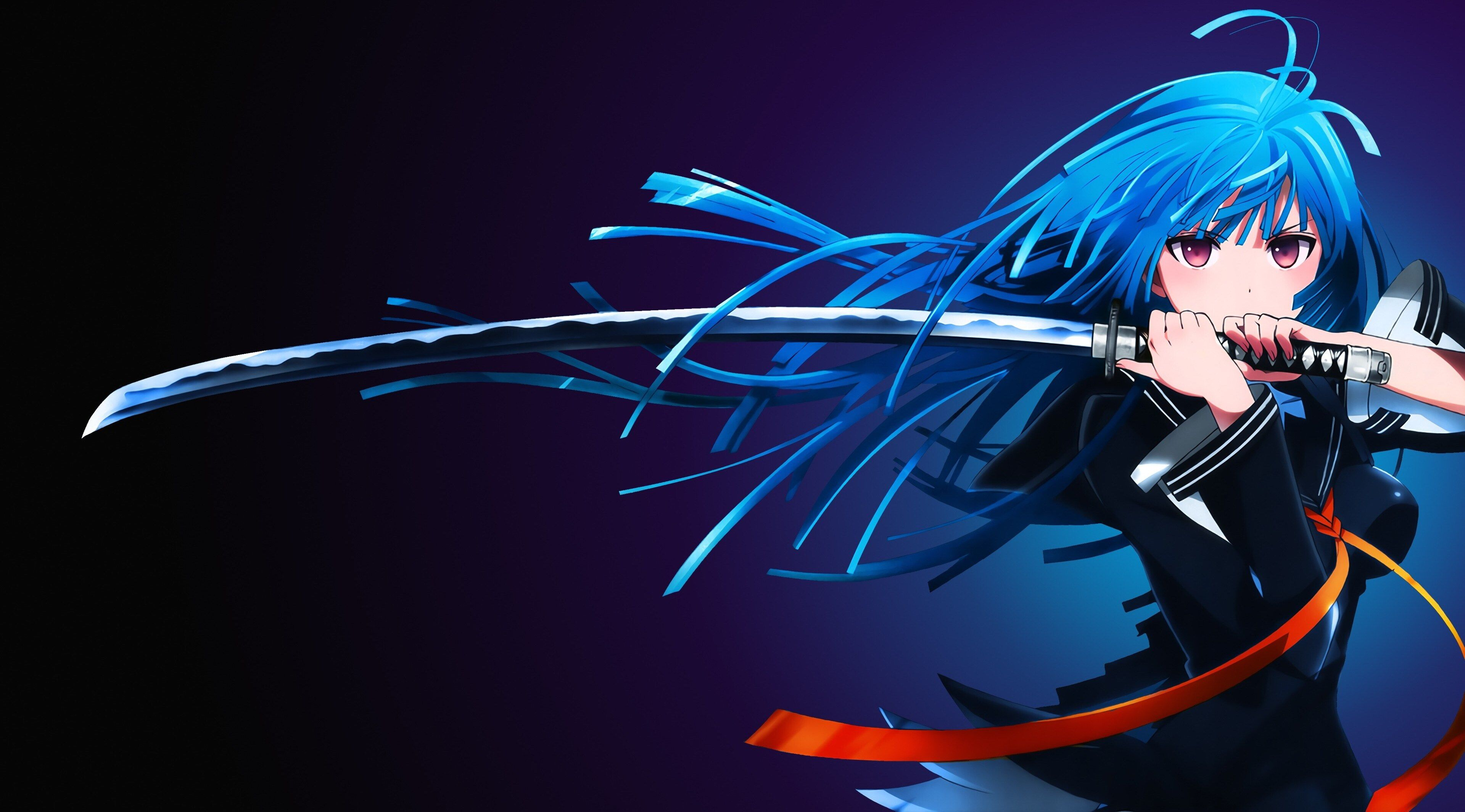 3840x2130 Anime 4k Wallpaper In Hd For Pc Gadis Animasi Gambar Anime Katana