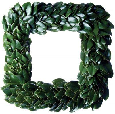 All Green Magnolia Square Wreath: The Magnolia Company