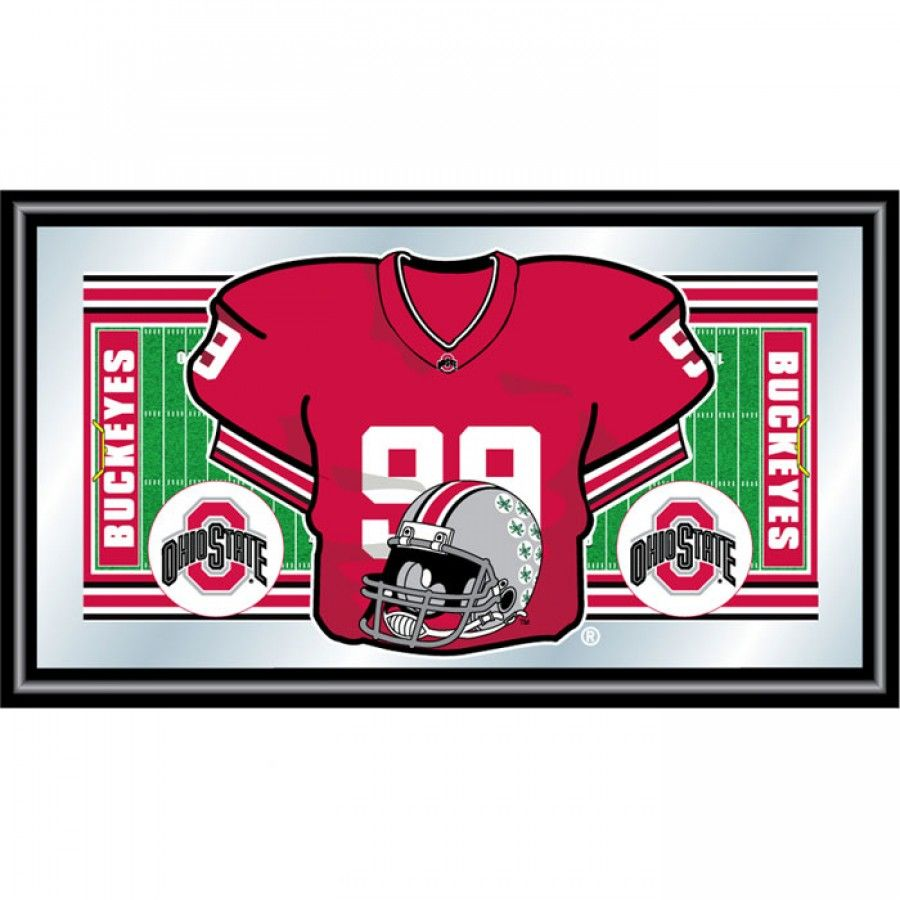 Trademark Global Ohio State University Football Framed Jersey Mirror ...