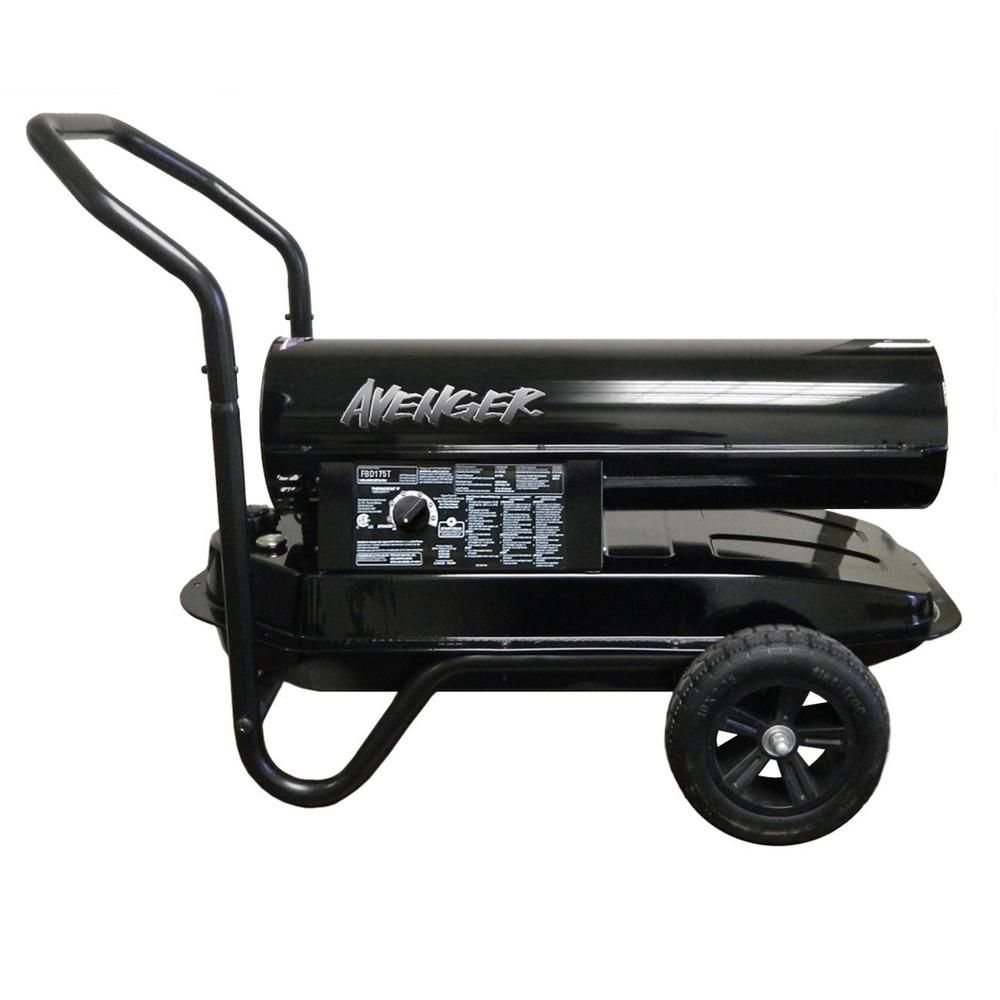 Avenger 125 000 Btu Portable Forced Air Kerosene Heater Fbd125t Kerosene Heater Portable Propane Heater Outdoor Heaters