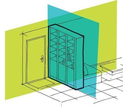 cloisons partielles : isoler l'entrée, fermer la cuisine