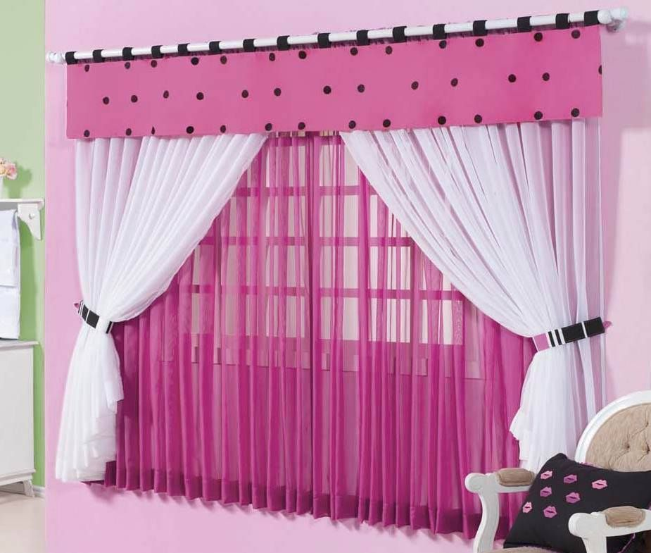 Cortina rosa con blanco bebes pinterest cortinas - Cortinas nina dormitorio ...