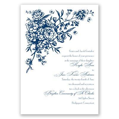 Floral Bouquet Wedding Invitation   Invitations by David's Bridal at Invitations By David's Bridal