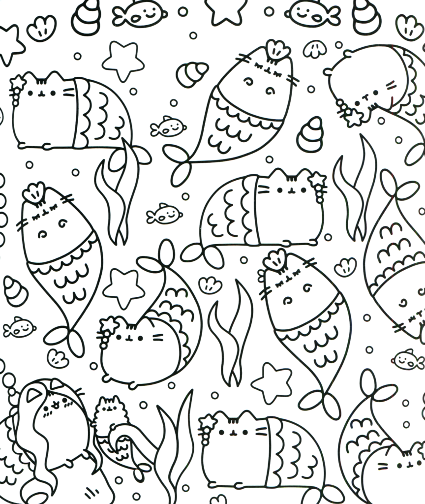 Coloring Rocks Mermaid Coloring Pages Pusheen Coloring Pages Unicorn Coloring Pages