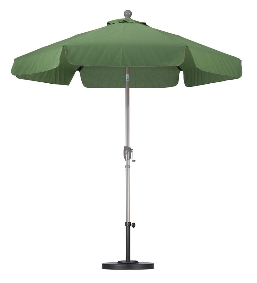 2.7m Outdoor Cafe Umbrella Aluminum Garden Parasol Patio Sun Shade Canopy Cover
