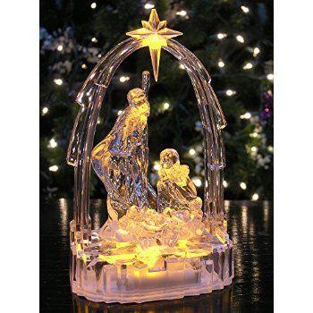Christmas For sale online Lighted Nativity Scene - LED Manger Scene - christmas decorations sale