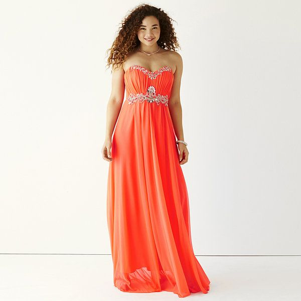 My Michelle® Strapless Embellished Long Slim Dress - JCPenney ...