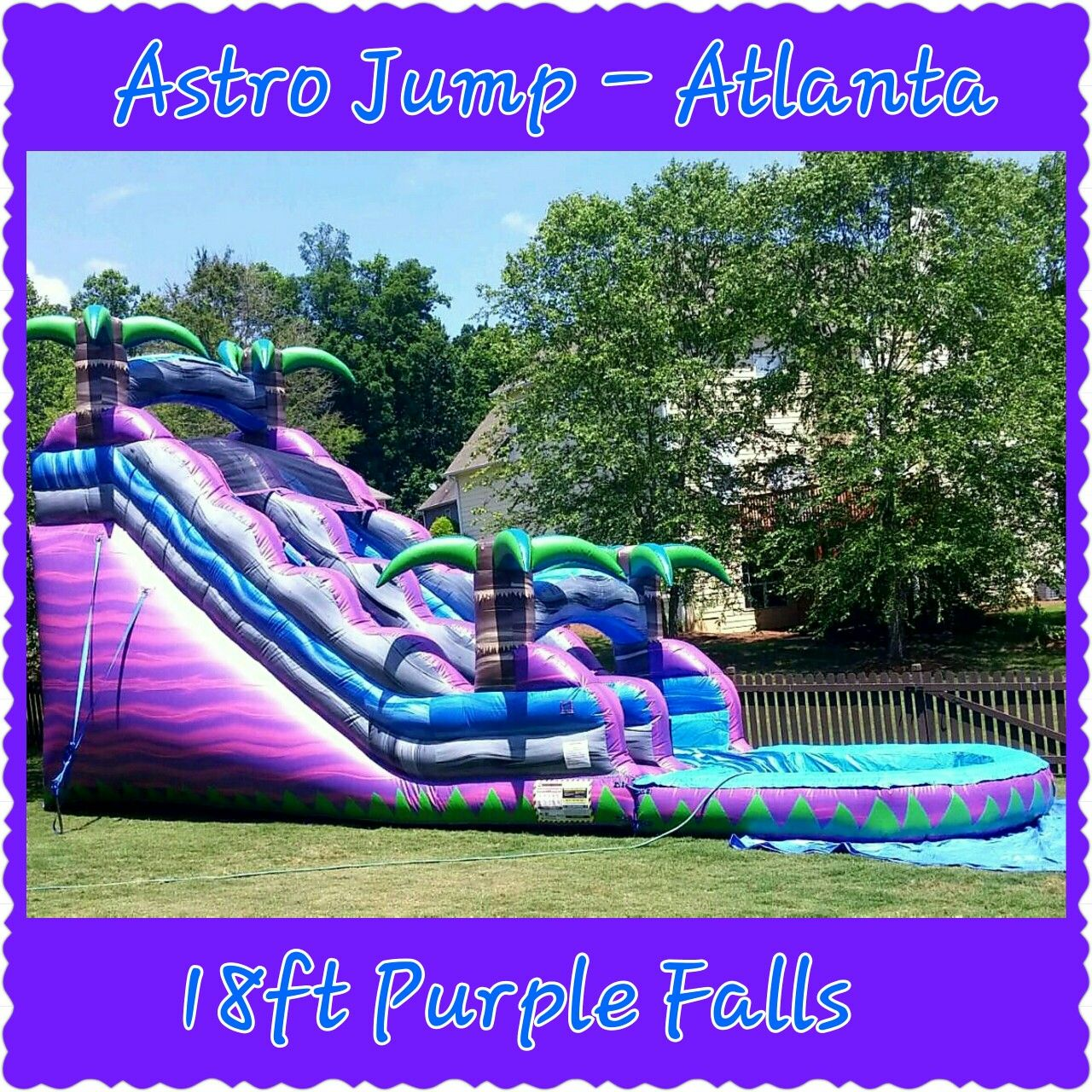 18ft Purple Falls Inflatable Waterslide Rentals from Astro ...