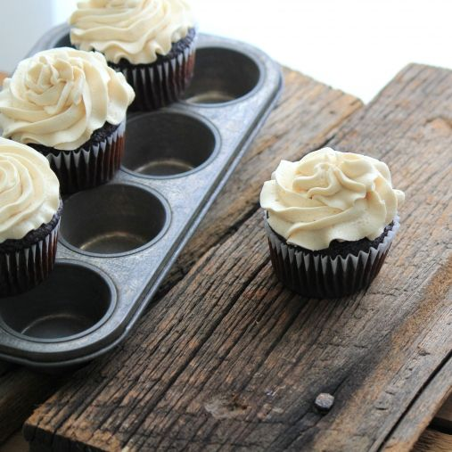 Chocolate Cupcakes w/ Coffee Buttercream