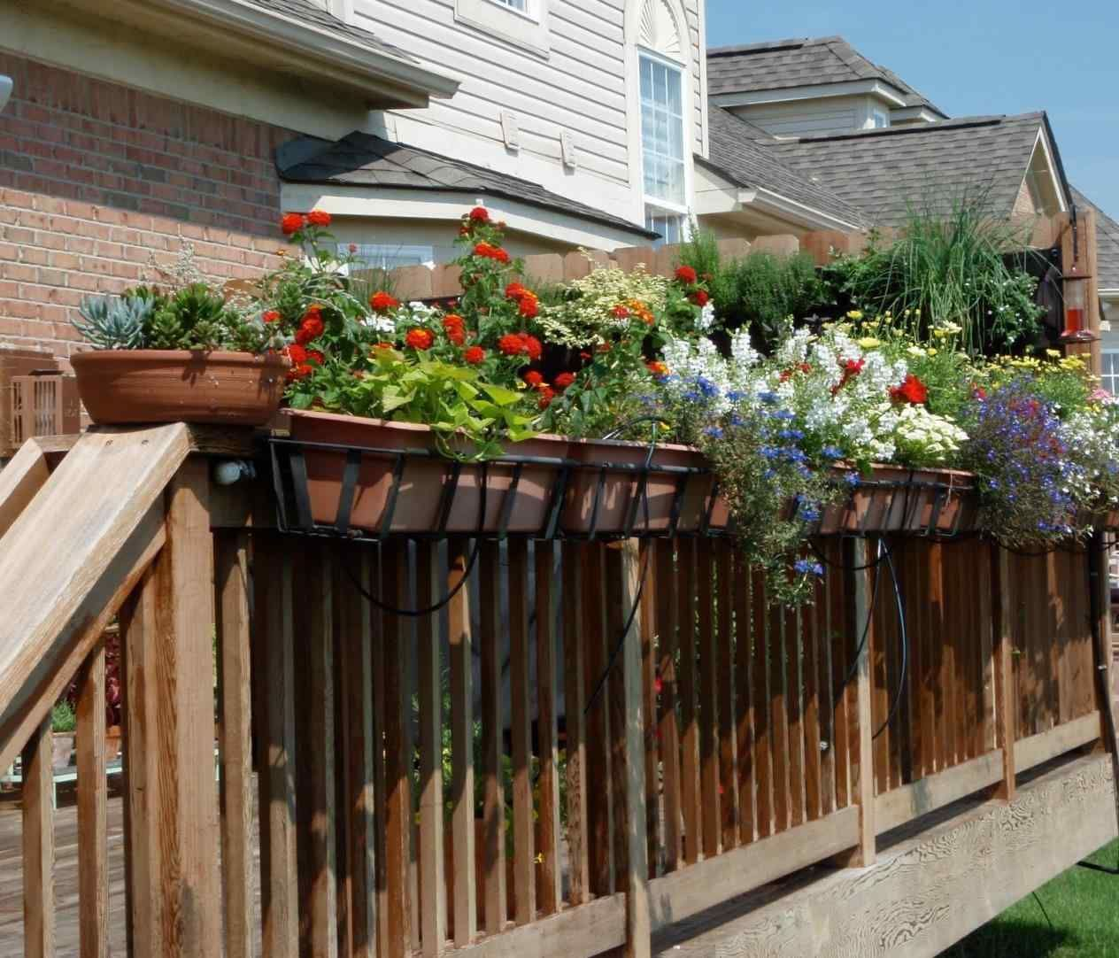 hanging flower boxes for deck railings