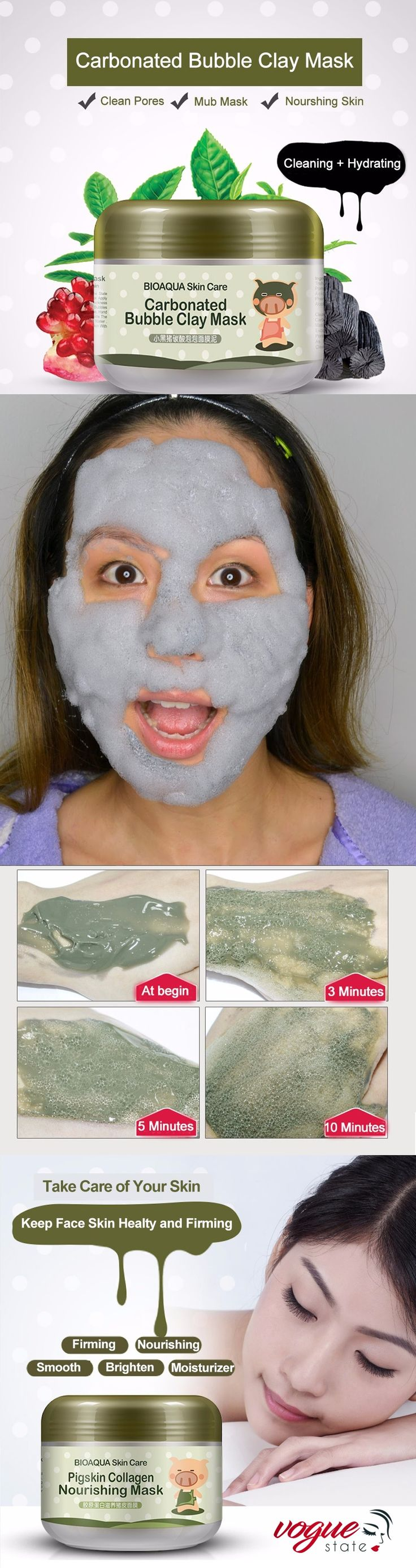 Carbonated Clay Mask Carbonated Bubble Clay Mask Clay Masks Mask
