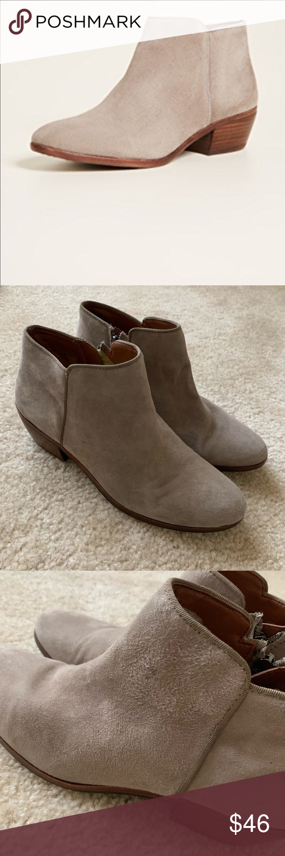 89d24701c29ee Sam Edelman Petty suede Boots Booties 7.5 Condition  Great used! Very minor  wear as