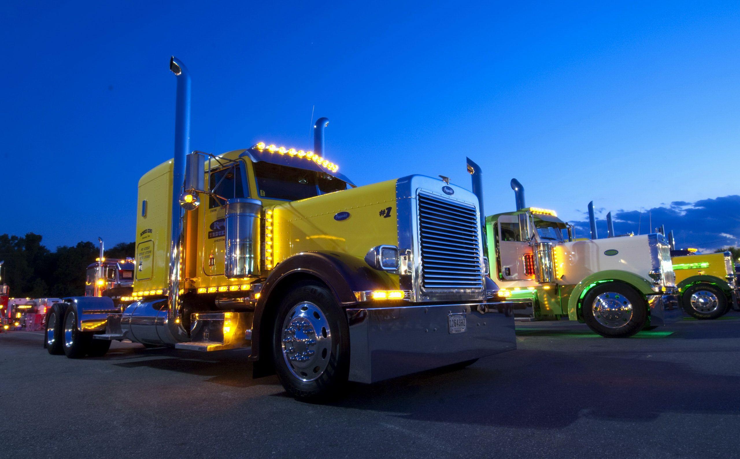 Peterbilt trucks peterbilt truck yellow wallpapersus com