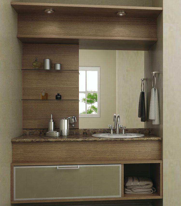 móveis para banheiro planejado  2  banheiros  Pinterest  Móveis para banh -> Banheiro Planejado Pia
