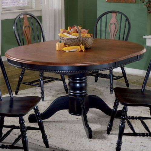 Sunset Trading 48 Inch Round Dining Table With Butterfly Leaf Color Black Cherry By Sunset Trading 597 00 Available In Black Cherry Li Jadalnia