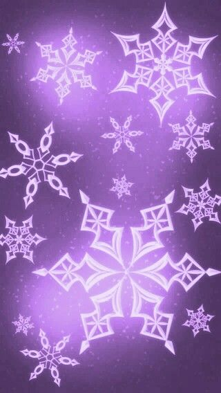 Purple snowflakes phone wallpapers in 2019 snowflake - Purple christmas desktop wallpaper ...