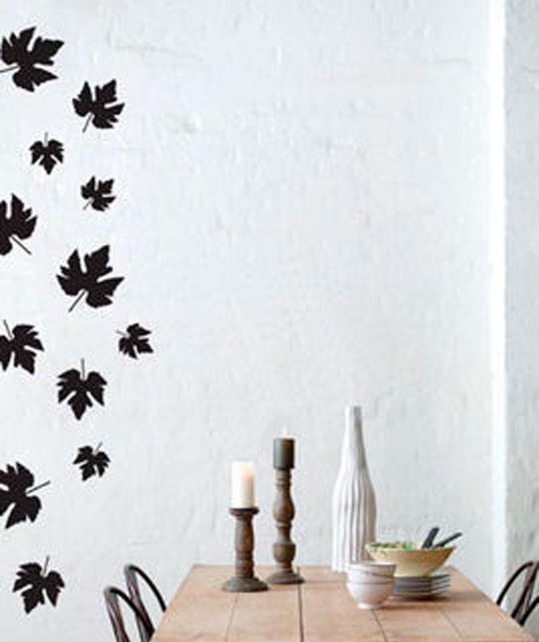 Hojas secas vinilo adhesivo decoraci n de paredes 69 for Adhesivos neveras decoracion