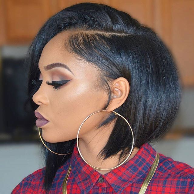 ***Try Hair Trigger Growth Elixir*** ========================= {Grow Lust Worthy Hair FASTER Naturally with Hair Trigger} ========================= Go To: www.HairTriggerr.com =========================       Cute Deep Parted Asymmetrical Bob with Big Hoops!!