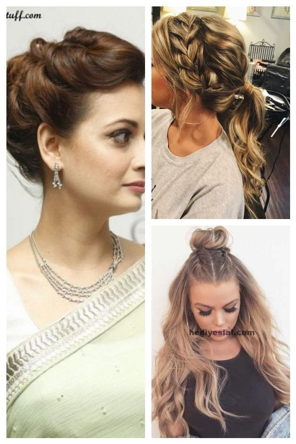 Hairstyle With Saree For Round Face in 2020 | Hair styles, Hairstyles for round faces, Round face