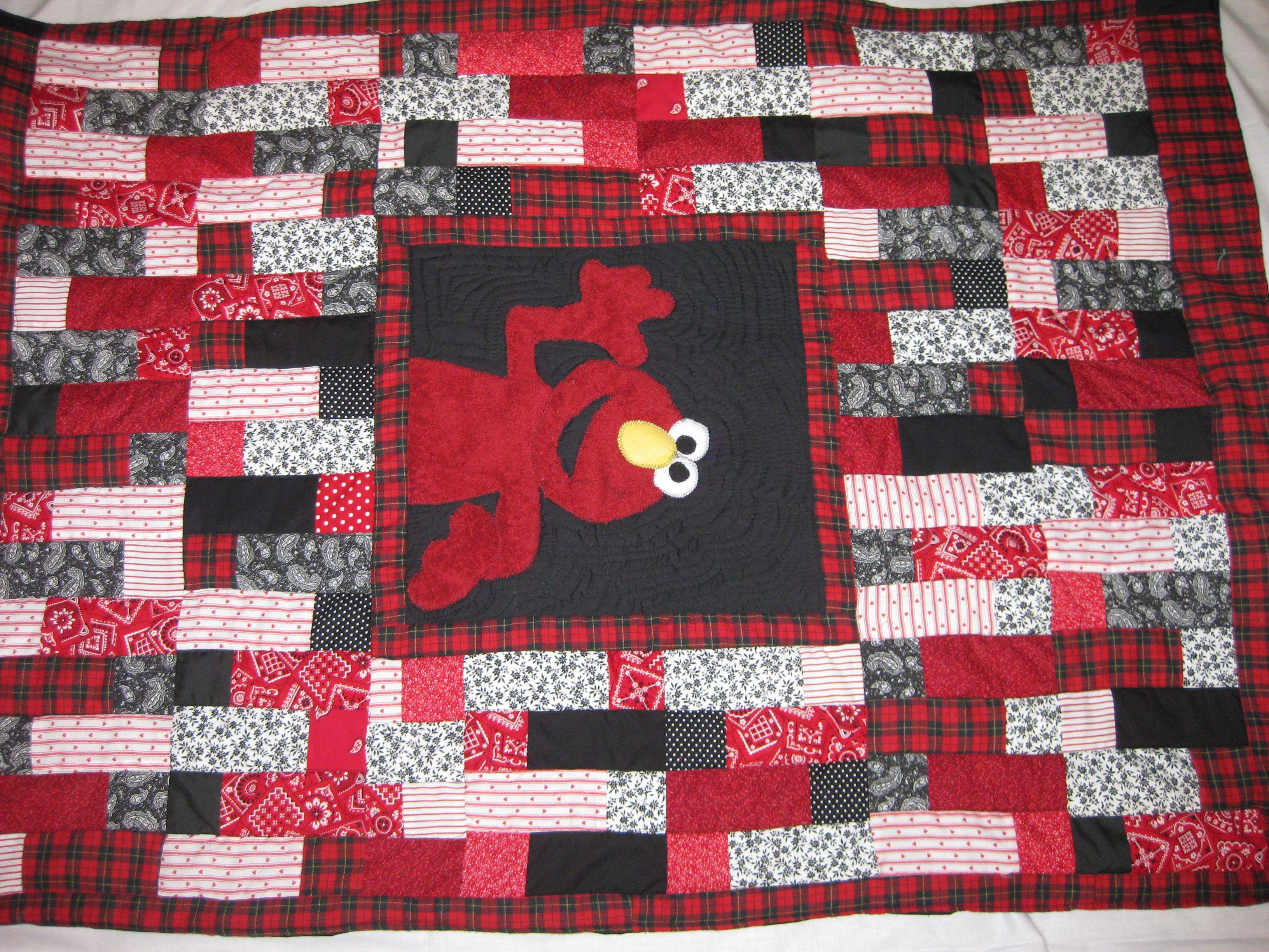 I made this elmo baby quilt using scraps and a towel for elmo so ... : elmo quilt - Adamdwight.com