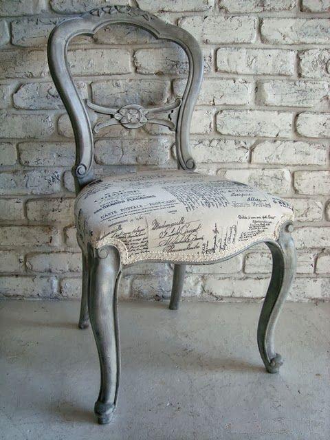 Transfers en Tela: Tapicería vintage | Silla gris | Pinterest ...