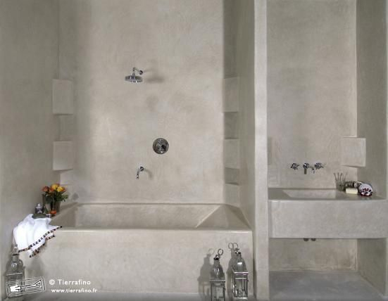 Tadelakt salle de bains a comletely fini | salle de bain ...