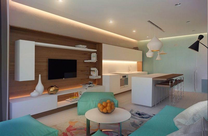 Couleur Appartement Moderne #6: Meubles Et Décor Couleur Gris Dans 5 Appartements Modernes