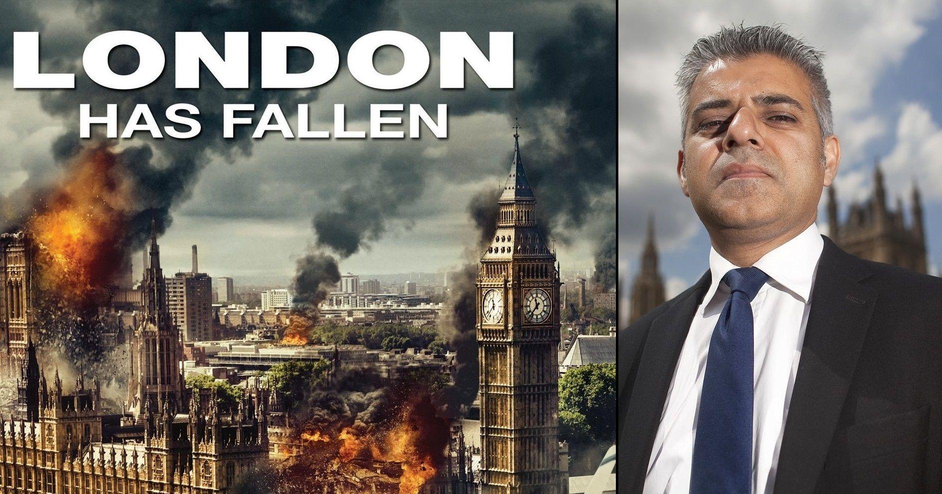 Image result for sadiq khan london has fallen