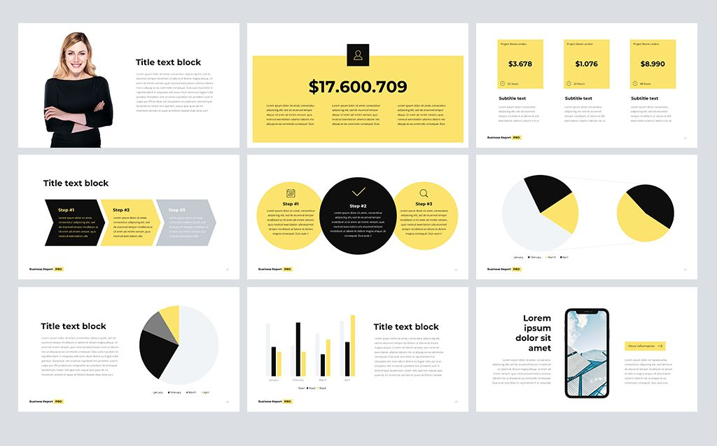 Business Report PRO PowerPoint Template 73235 Keynote