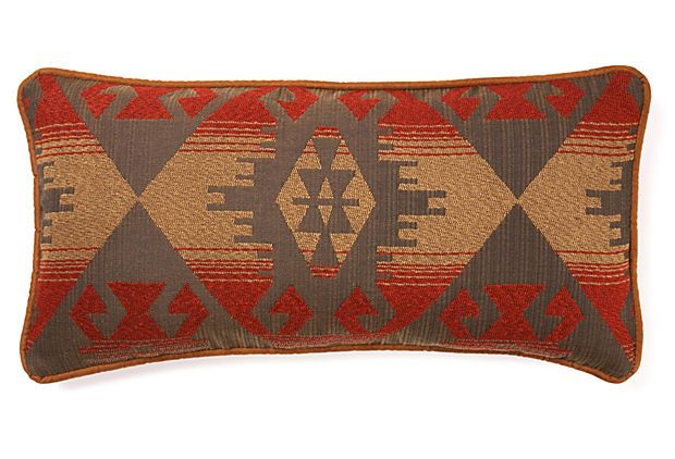 Western 12x24 Pillow Brown Multi On Onekingslane Com Southwestern Home Decor Linen Linen Blend