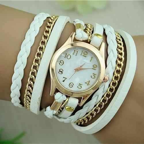 Reloj Pulsera En Cuero Para Mujer Fotos Reales Y Hermosos 9 999 Accesorios De Cuero Relojes De Moda Mujer Reloj Pulsera
