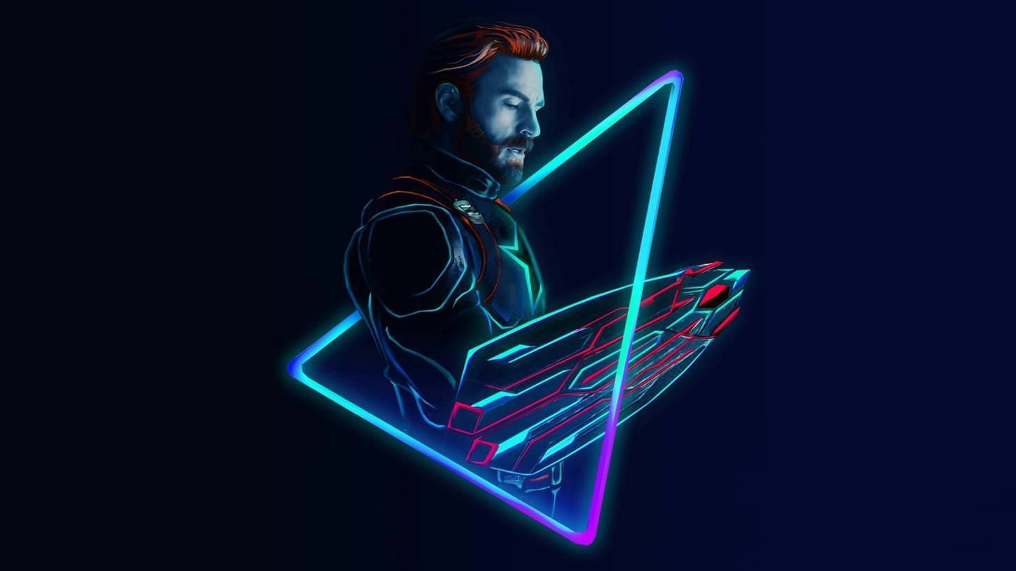 Neon Avengers 1920x1080 Desktop Wallpapers Based On Artwork By Aniketjatav On Instagram Marvel Wallpaper Avengers Wallpaper Captain America Wallpaper