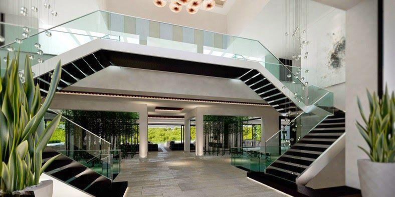 casa-moderna-interiores casa de lujo Pinterest Casas modernas