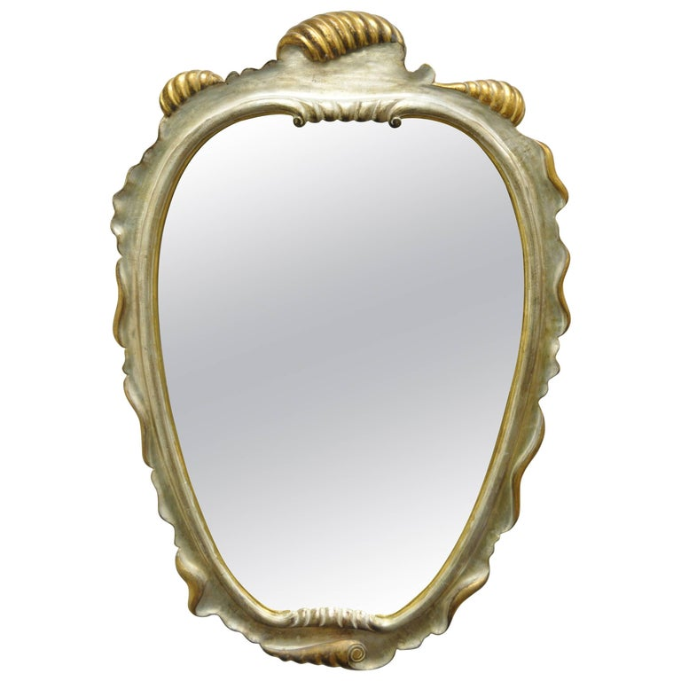 Italian Hollywood Regency Gold And Silver Giltwood Mirror ...