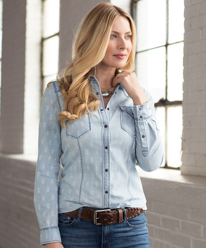 Ladies Ryan Michael Geo Print Shirt at Maverick Western Wear ...