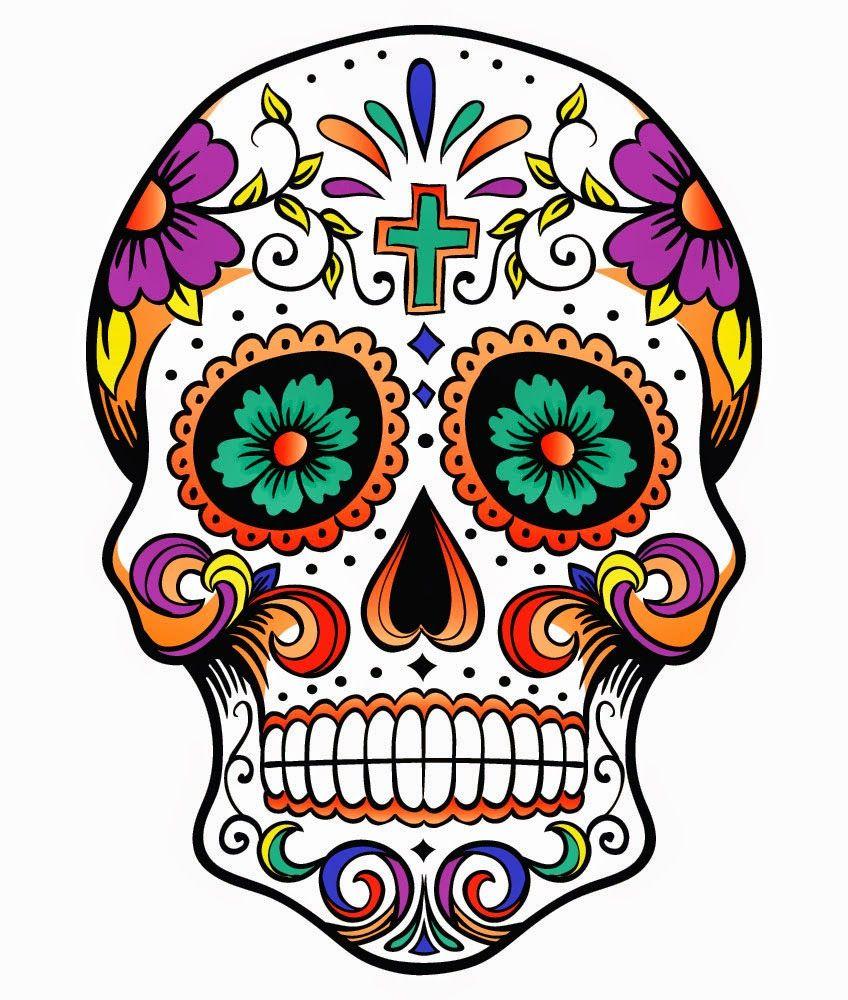 Sugar Skull Png Google Search Skull Coloring Pages Skull Sugar Skull Art