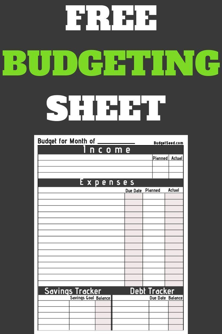 Free budgeting planner for your money. Take control of your money with this free... - Debt Solutions, Budgeting & Money Management -