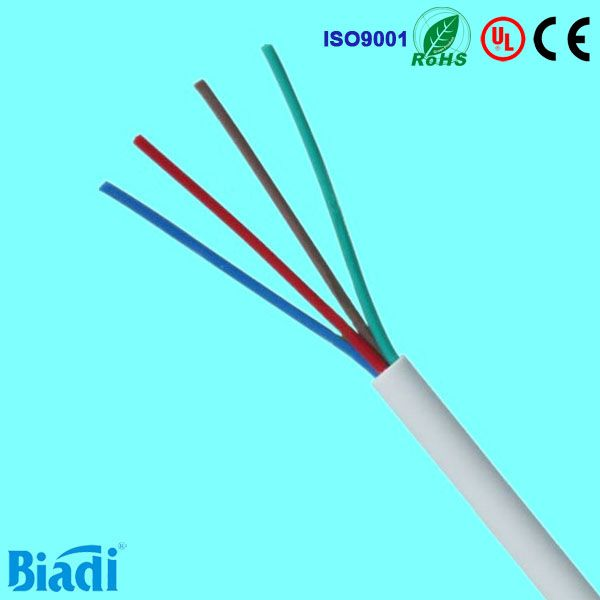 Flat telephone cable indoor phone wire 4 color-coded stranded AWG28 ...