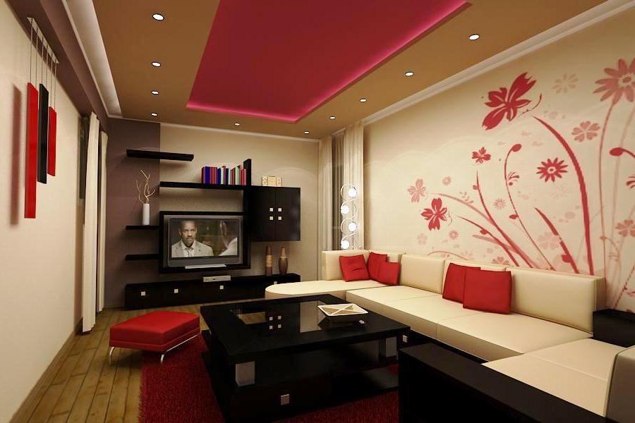 Desain Wallpaper Dinding Ruang Tamu Minimalis