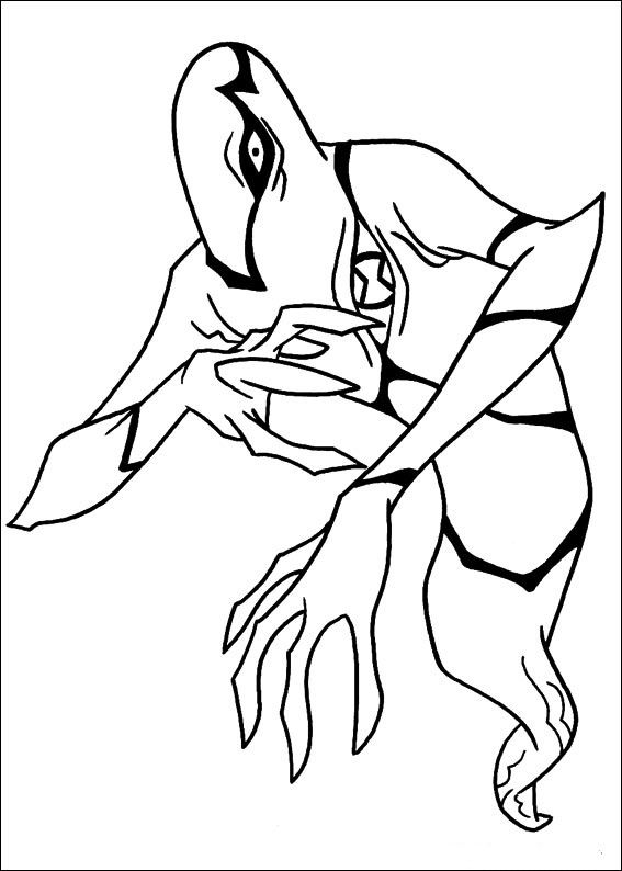 Ben 10 Coloring Pages For Kids Printable Online 54