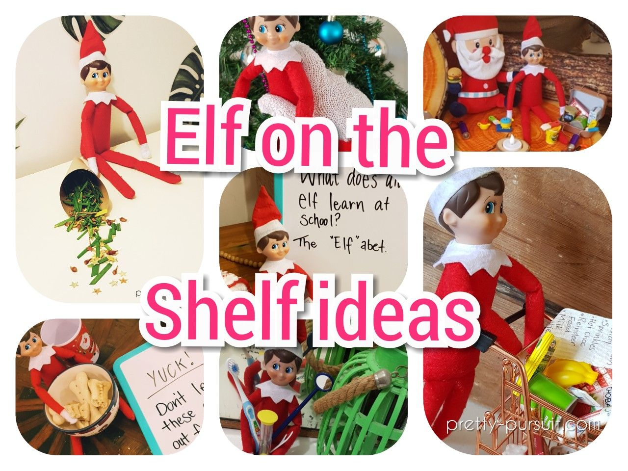Elf on the shelf ideas. Elf antics. Ideas for each night + elf on the shelf