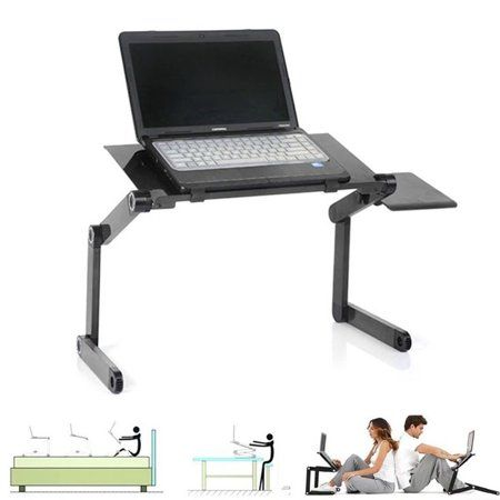 Portable Adjustable Aluminum Laptop Desk Stand Table Vented W