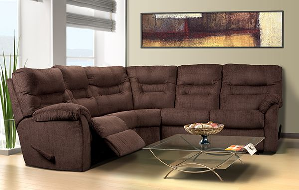 El Ran Reclining Sectional Available In Fabric Or Leather