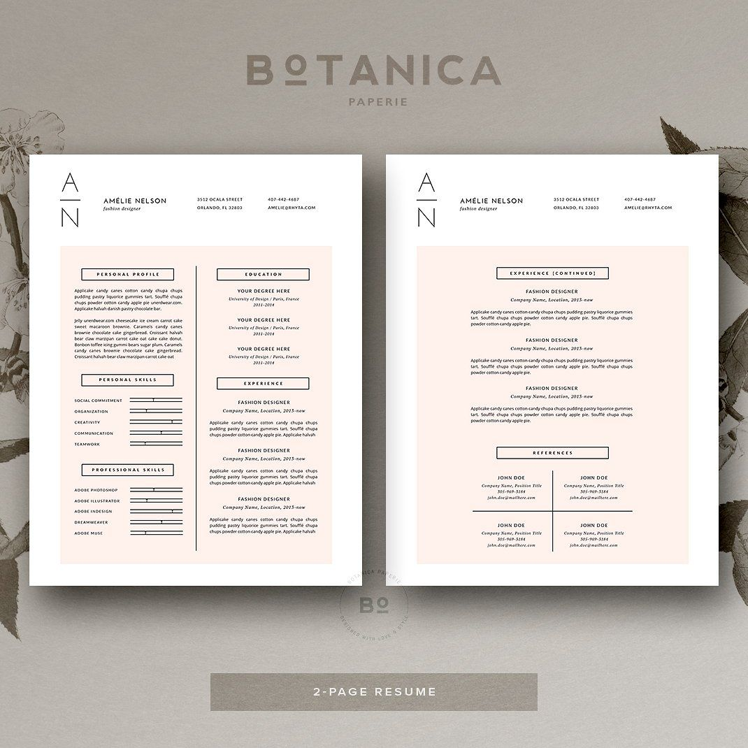 Resume Template and Cover Letter by