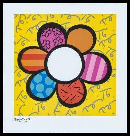 Du fil et mon cartable porte manteaux fleur romero britto rentr e tableau art art - Coloriage fleur britto ...