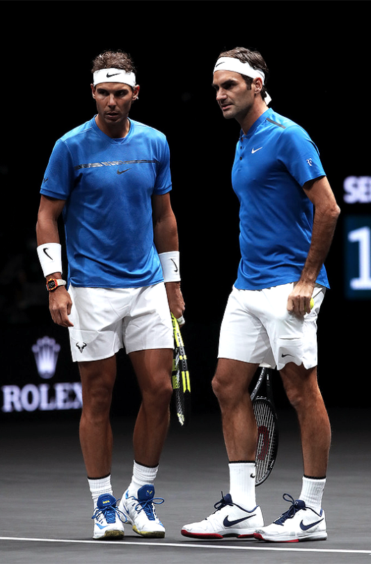 Rafael Nadal And Roger Federer Laver Cup Day Two September 24 2017 Roger Federer Nadal Tennis Tennis Champion