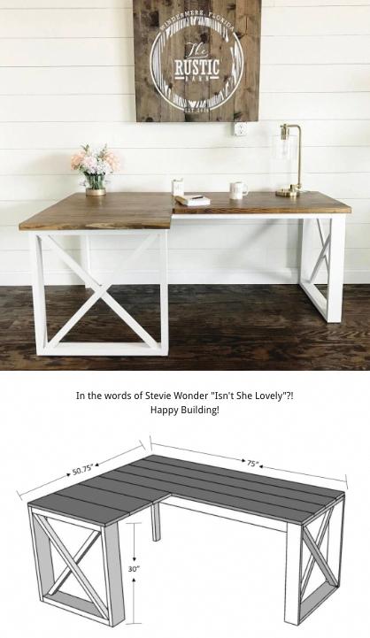 Full Woodworking Plans For An L Shaped Or Corner Desk