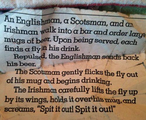 Scotsman englishman irishman jokes